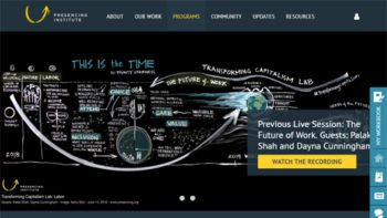 U理論のWEBに資本主義を超える新しい経済の試みとしてアズワンの活動が紹介