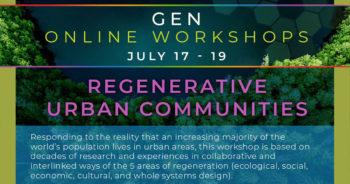 「都市での持続可能なコミュニティづくり」  国際ライブに出演